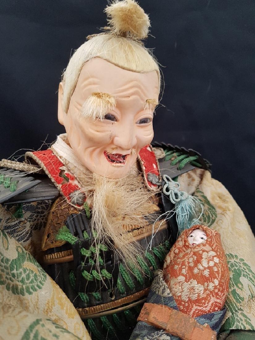 Antique Japanese Musha Ningyo Doll, c1890-1900 - 5