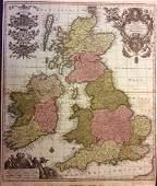 Seutter: Antique Map of British Islands, 1740