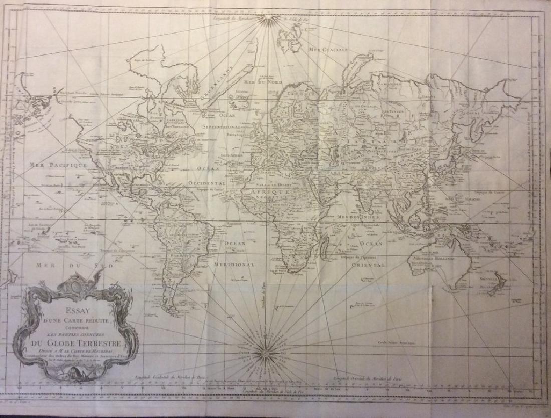 Bellin / la Harpe: Antique Map of the World, 1740