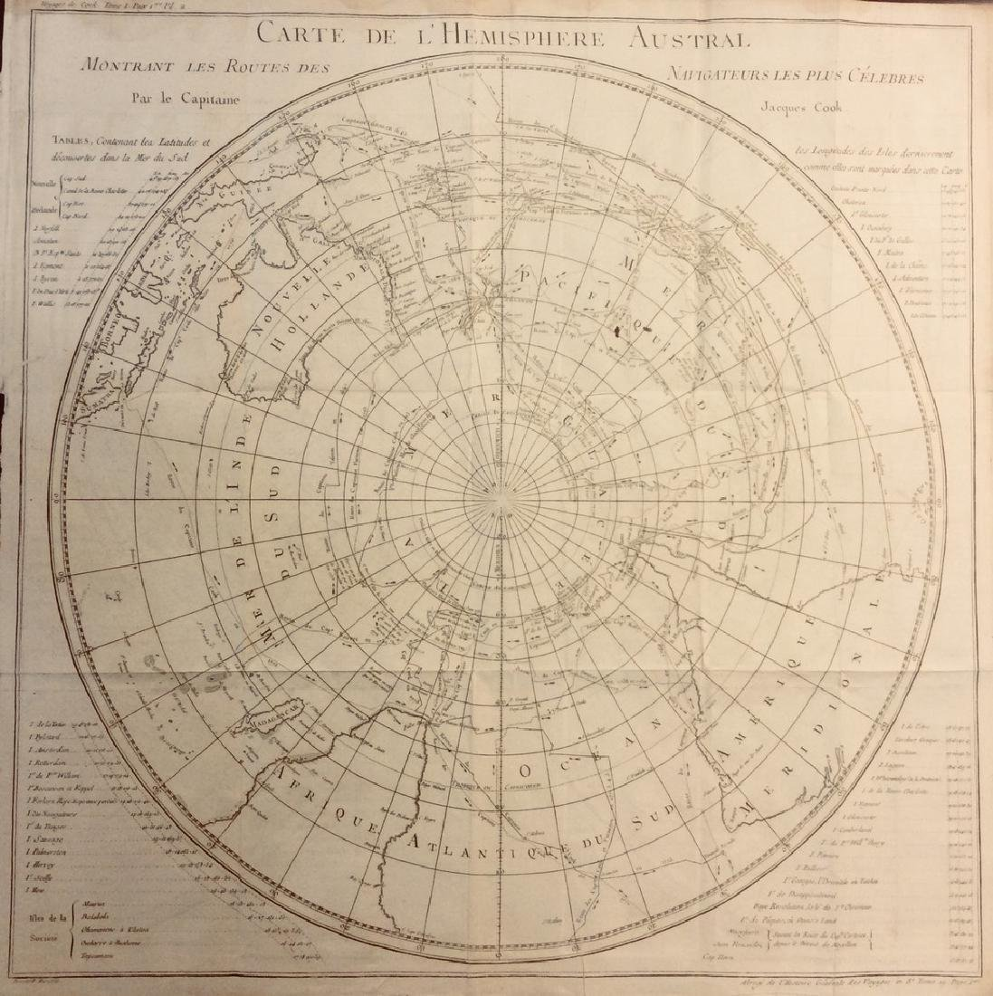 Bellin: Antique Map of South Pole & Southern Hemisphere