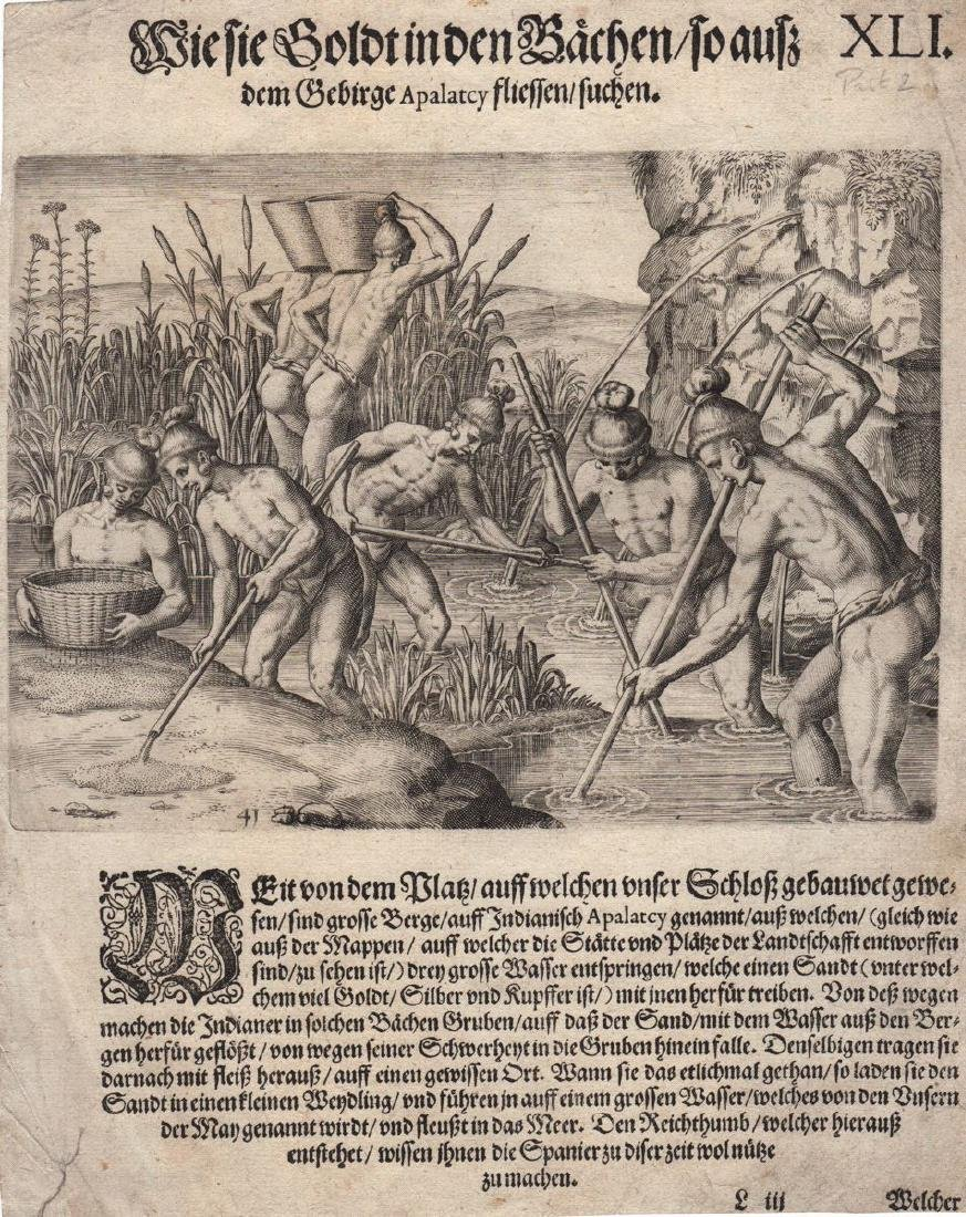 de Bry: Collecting Gold in Appalachia, 1590