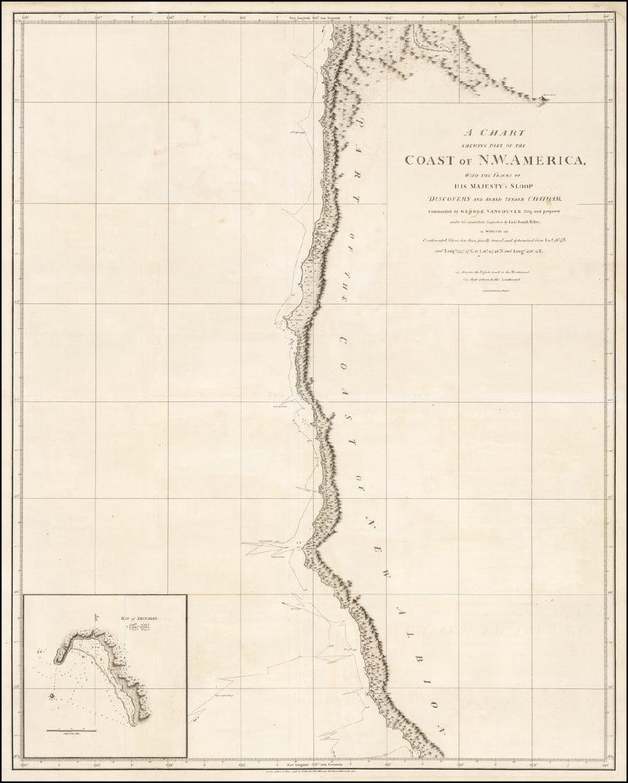 Vancouver: Antique Chart of Northwest Coast of America