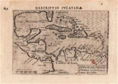 van den Keere / Langenes: Antique Map West Indies, 1598