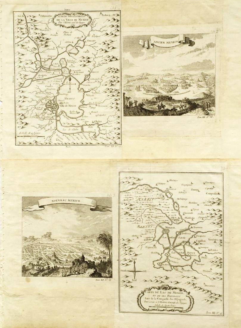 Bellin: Maps/Views of Aztec & Colonial Mexico City