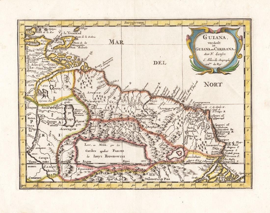 Sanson: Antique Map of Guiana & Amazon Basin, 1658