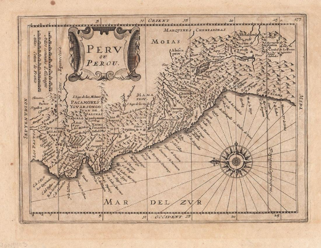 Mercator/Hondius/Cloppenburgh: Antique Map of Peru 1630