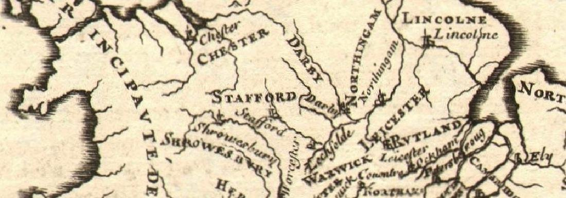 Mallet: Antique Map of England, 1683 - 2