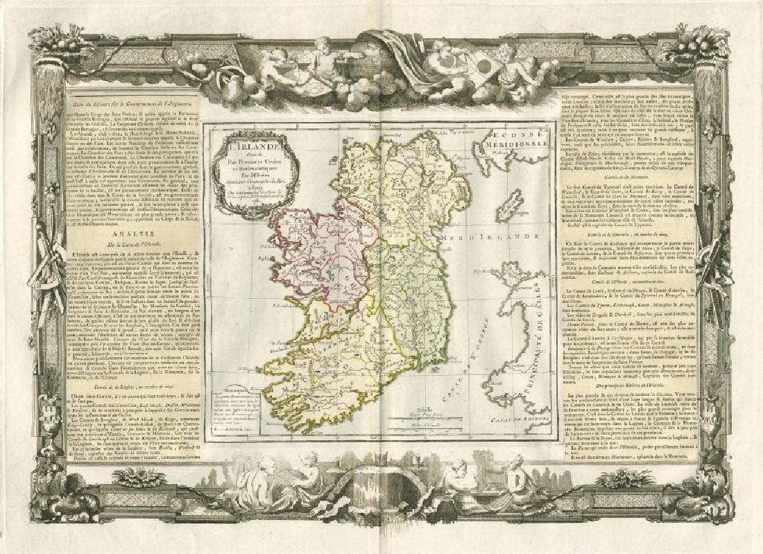 de la Tour / Desnos: Antique Map of Ireland, 1771