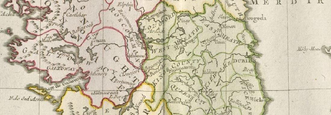 de la Tour / Desnos: Antique Map of Ireland, 1771 - 2