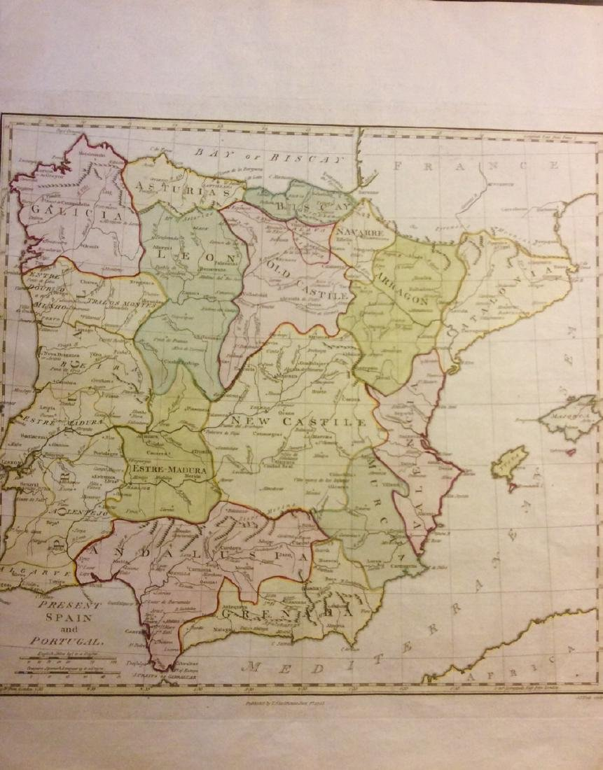 Stackhouse: Antique Map of Spain and Portugal, 1783