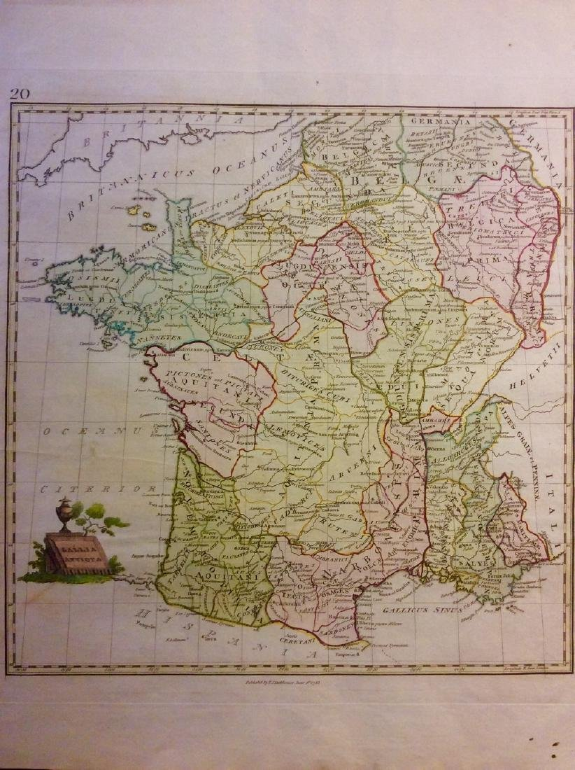 Stackhouse: Historical Map of Medieval France, 1783