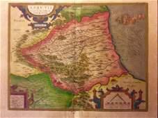 Ortelius: Antique Map of Abruzzo Region, Italy, 1609