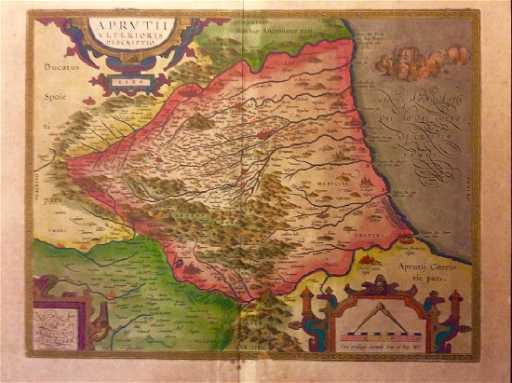 Map Of Italy Abruzzo Region.Ortelius Antique Map Of Abruzzo Region Italy 1609