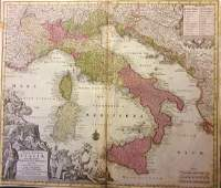 Seutter: Antique Map of Italy, 1740