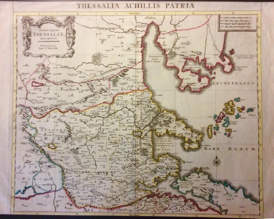Mortier: Antique Map of Ancient Thessaly, 1705
