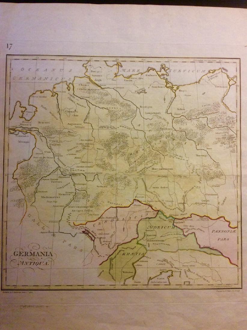 Stackhouse: Antique Map Ancient Germanic Regions, 1783