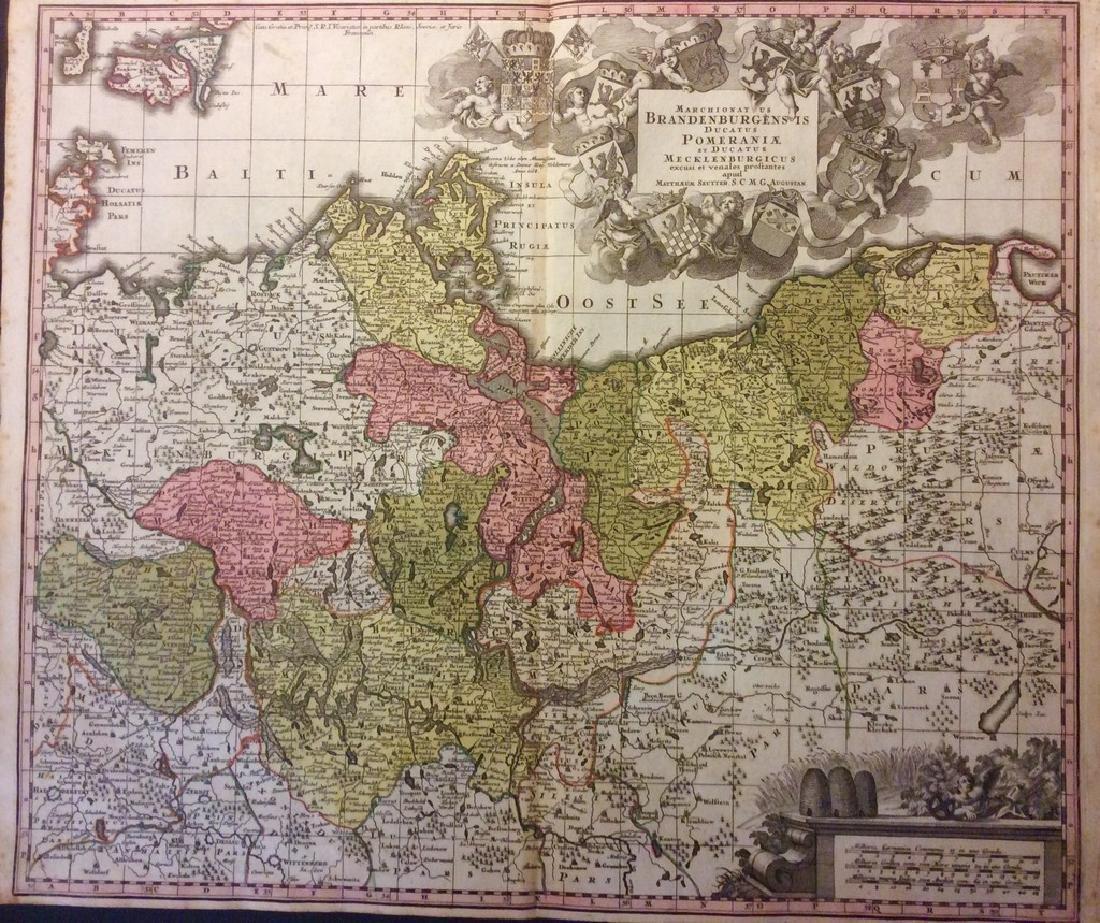 Seutter: Antique Map of Brandenburg & Pomerania, 1740