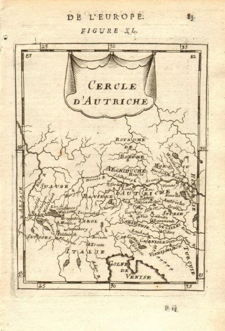 Mallet: Antique Map of Austria, 1683