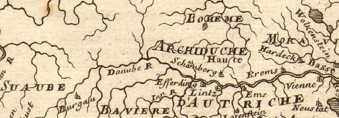 Mallet: Antique Map of Austria, 1683 - 2