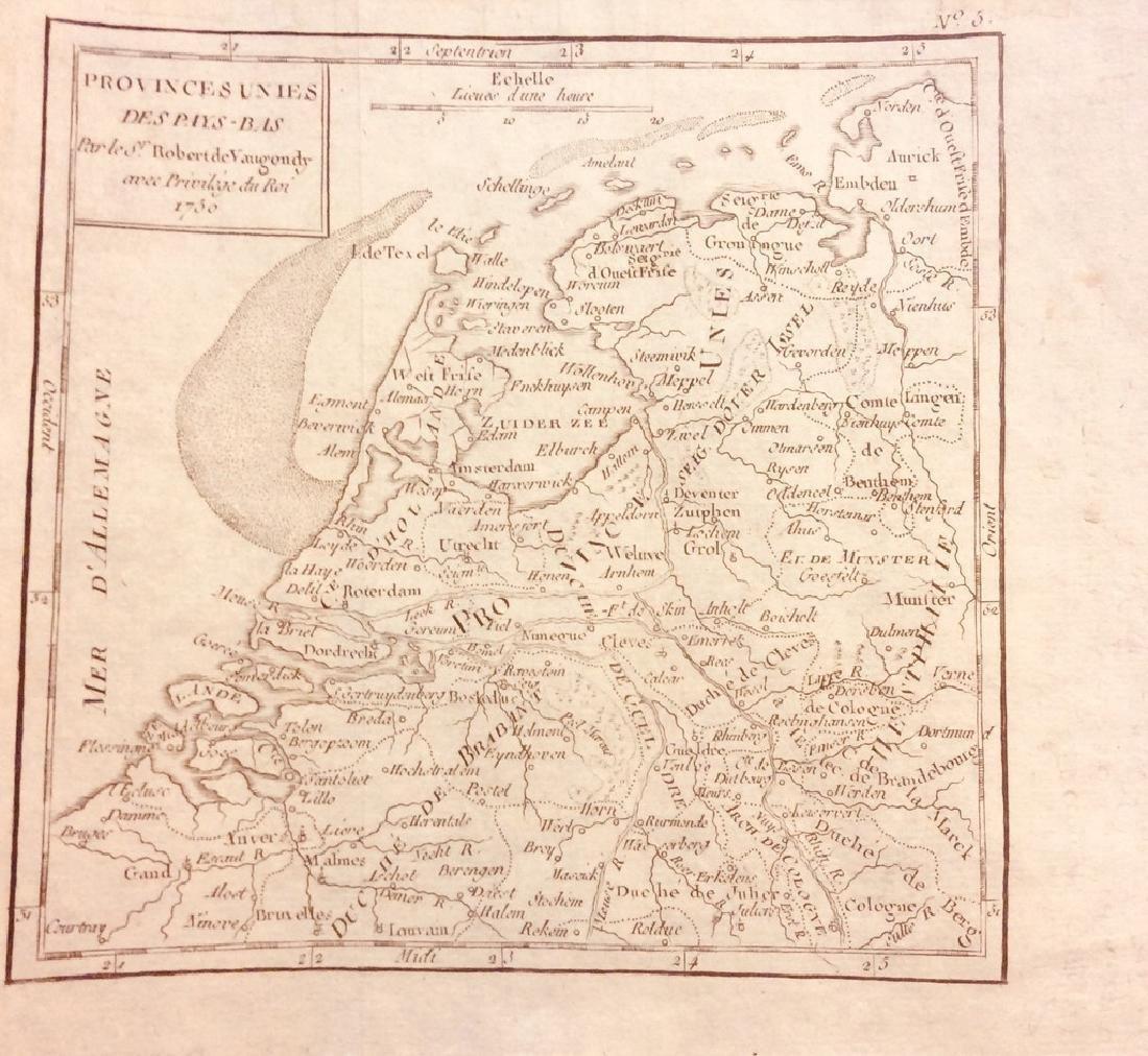 R. Gilles: Antique Map of Belgium & Netherlands, 1750