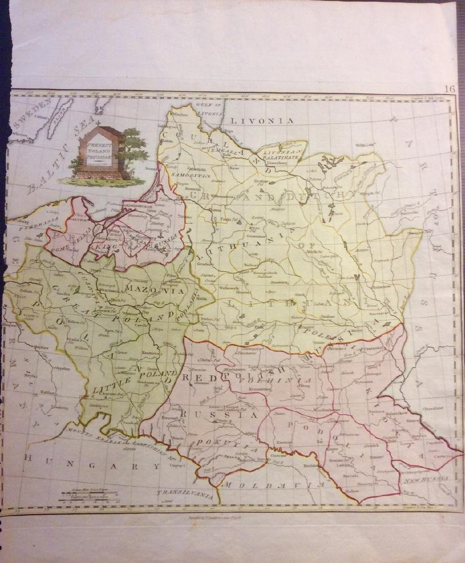 Stackhouse: Antique Map of Poland, 1783