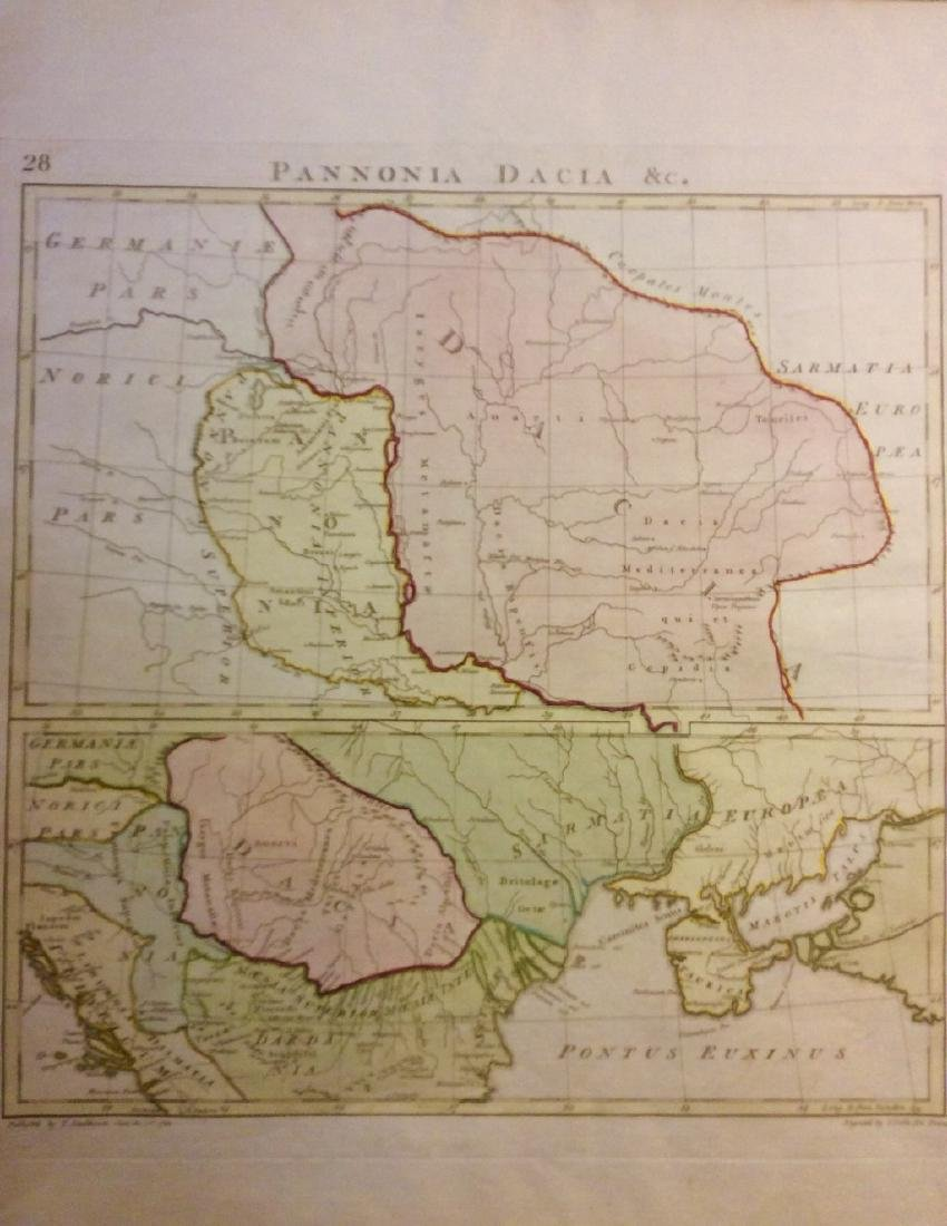 Stackhouse: Antique Historical Map of Dacia, 1783