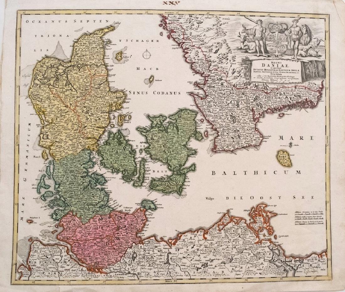 Homann: Antique Map of Denmark, 1720
