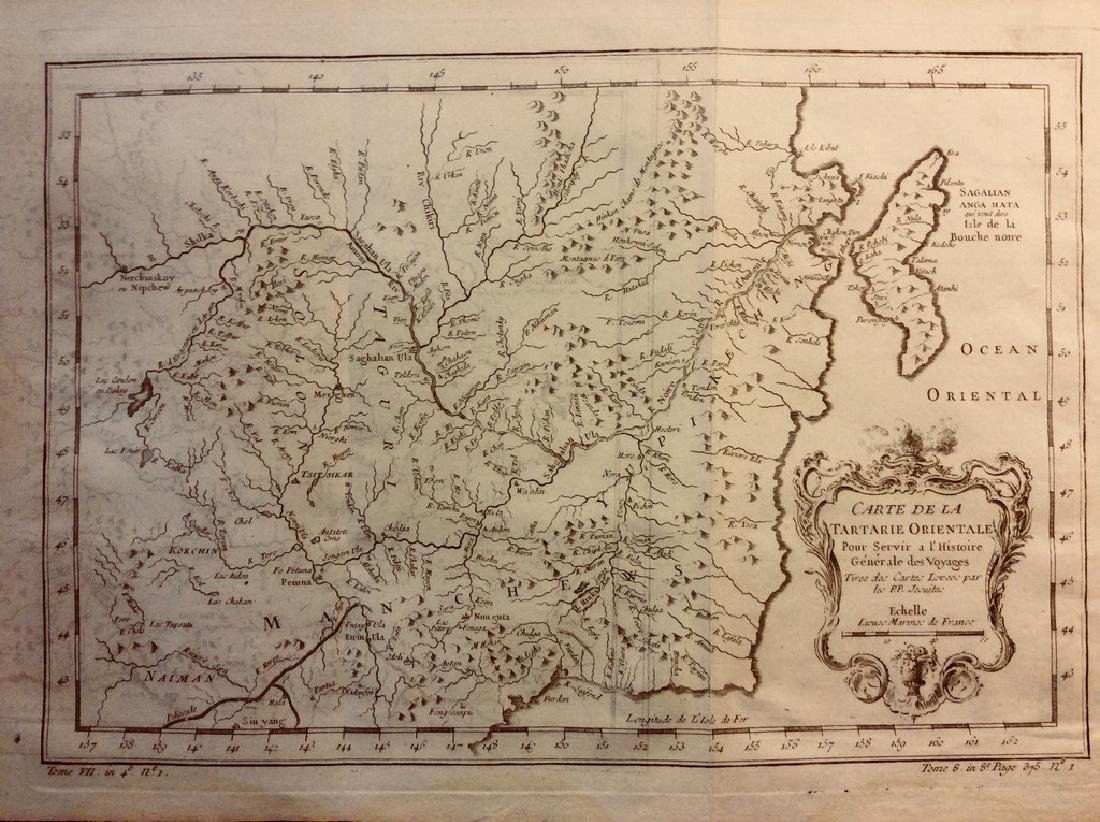 Bellin: Antique Map of Eastern Siberia, 1740