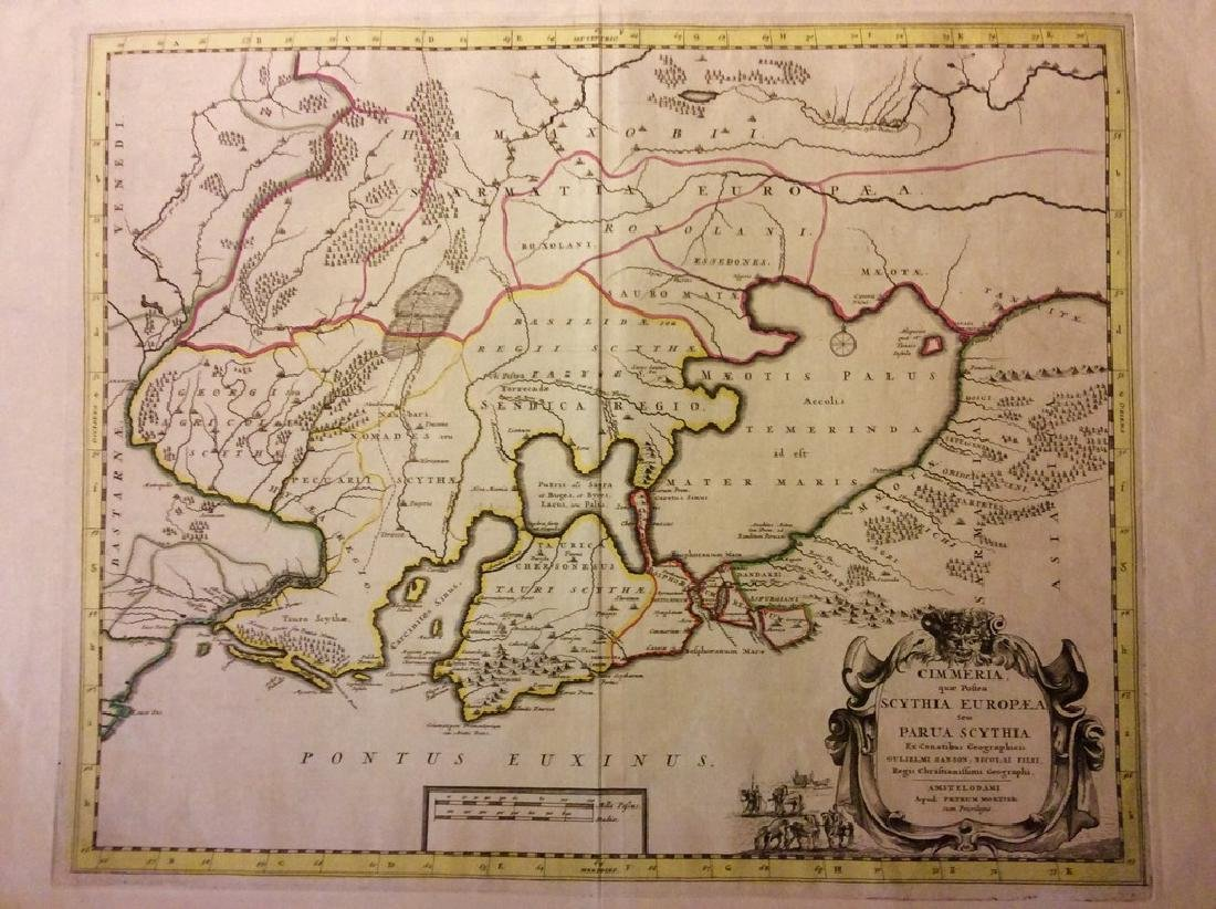 Mortier: Antique Map of Crimea & South Russia, 1705
