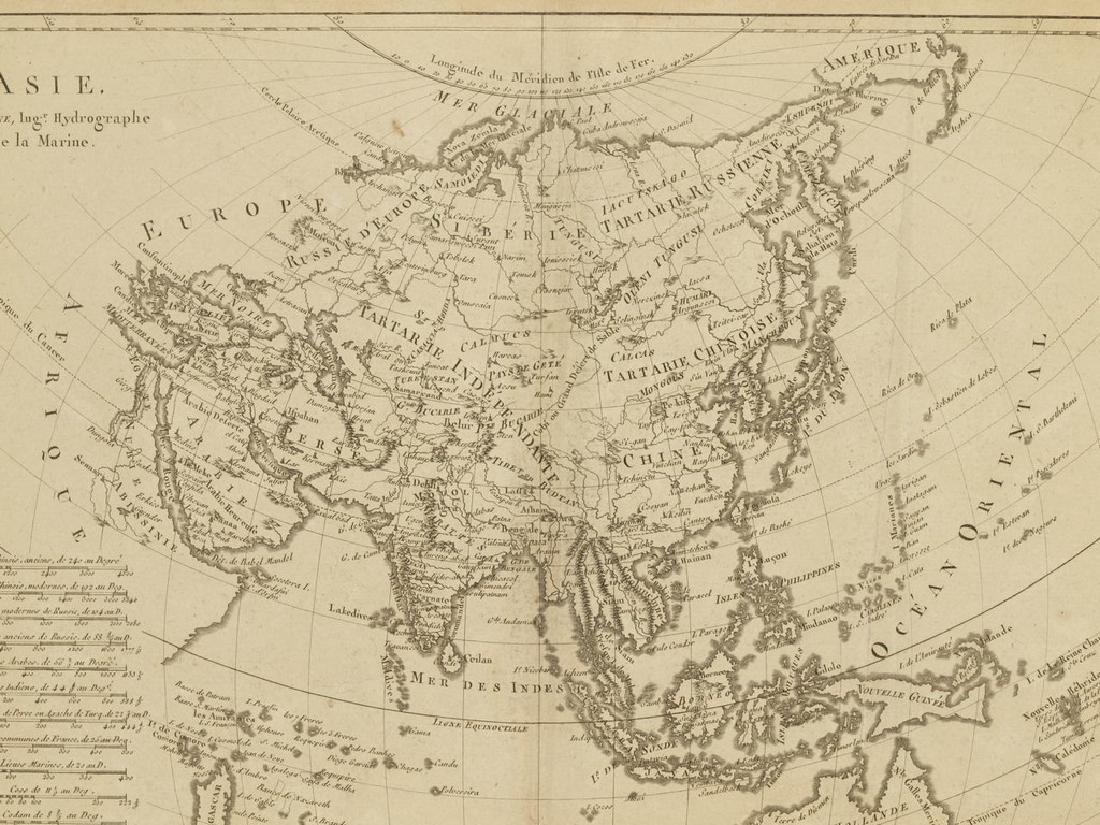 Bonne: Antique Map of Asia, 1787 - 6