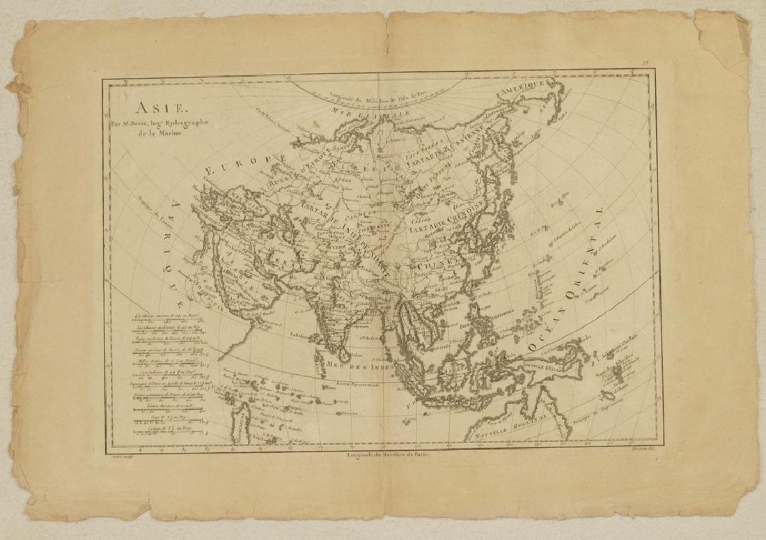 Bonne: Antique Map of Asia, 1787 - 7