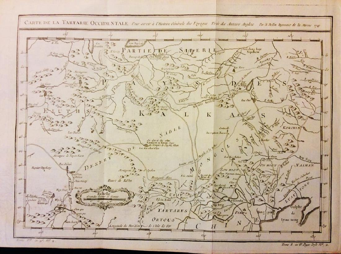 Bellin: Antique Map of Mongolia & Northern China, 1740
