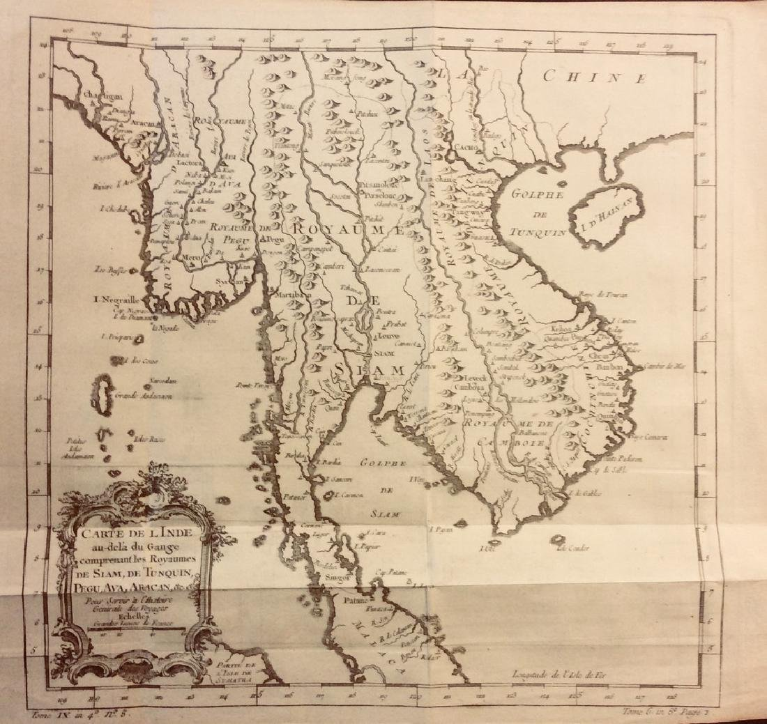 Bellin: Antique Map of Southeast Asia, 1740