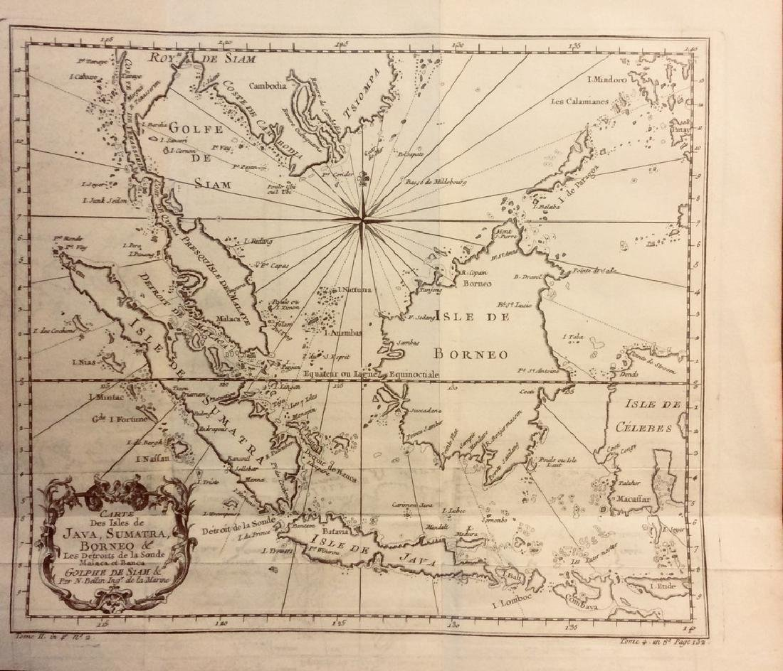 Bellin: Antique Map of Indonesia & Malayasia, 1740