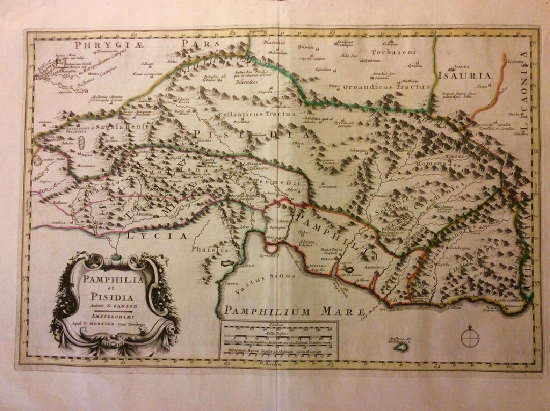 Mortier: Antique Map of Ancient Central Turkey, 1705