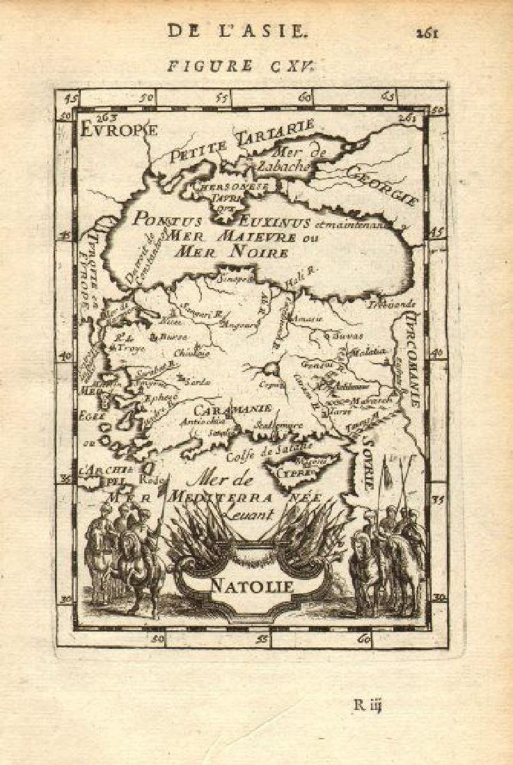 Mallet: Antique Map of Asia Minor with Black Sea, 1683