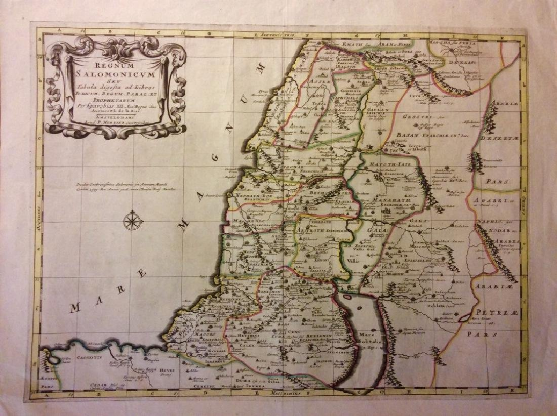 Mortier: Antique Map of Ancient Israel, 1705