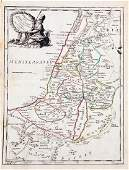Le Rouge Antique Map of Holy Land 1746