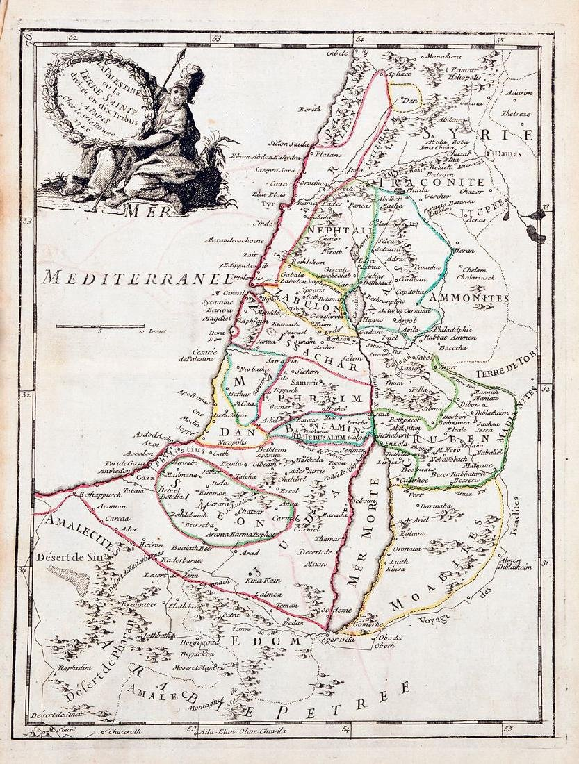 Le Rouge: Antique Map of Holy Land, 1746
