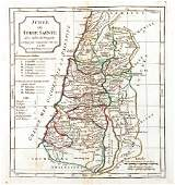de Vaugondy Antique Map of Judea  Holy Land 1795