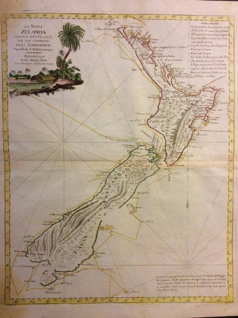 Zatta: Antique Map of New Zealand, 1783