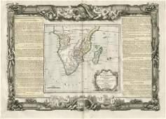 de la Tour: Antique Map of Southern Africa, 1771