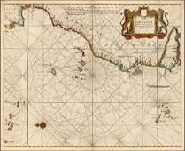 Goos: Antique Map of Northwest Coast of Africa, 1666