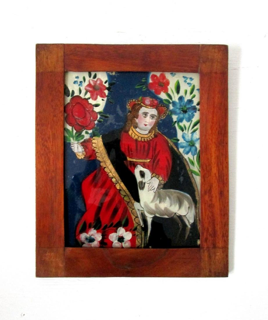 Early Reverse Glass Painting