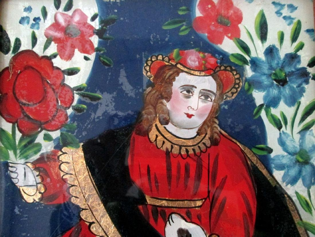Early Reverse Glass Painting - 2
