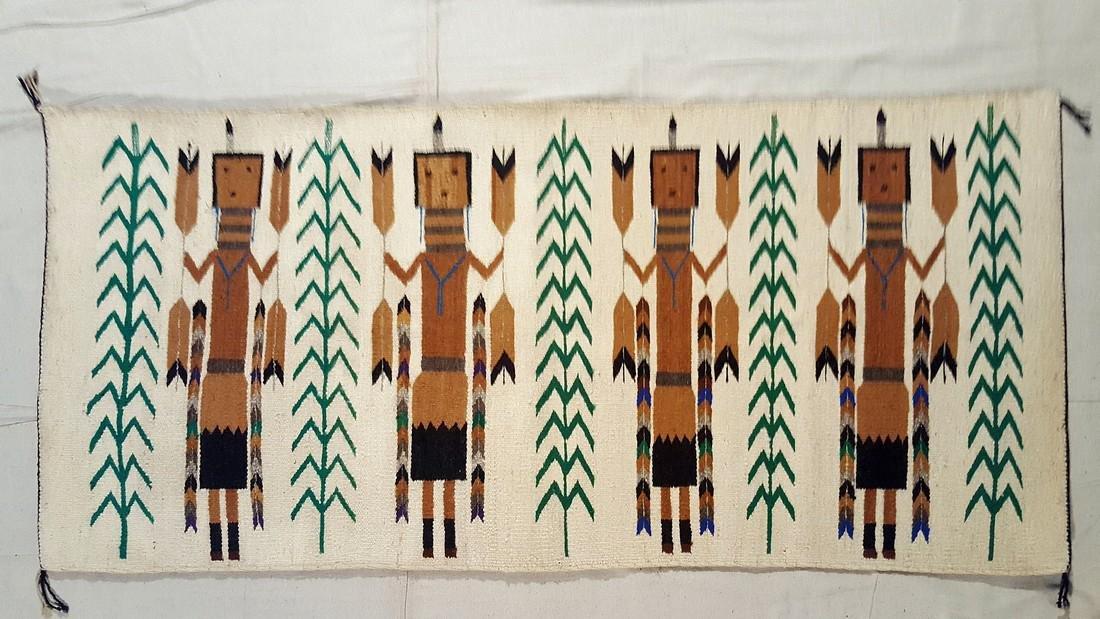Navajo Yei Corn Dance Rug Circa 1950's