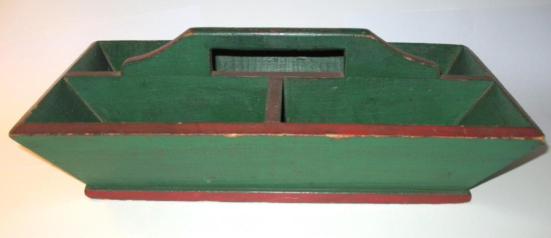 Red & Green Painted Knife Box