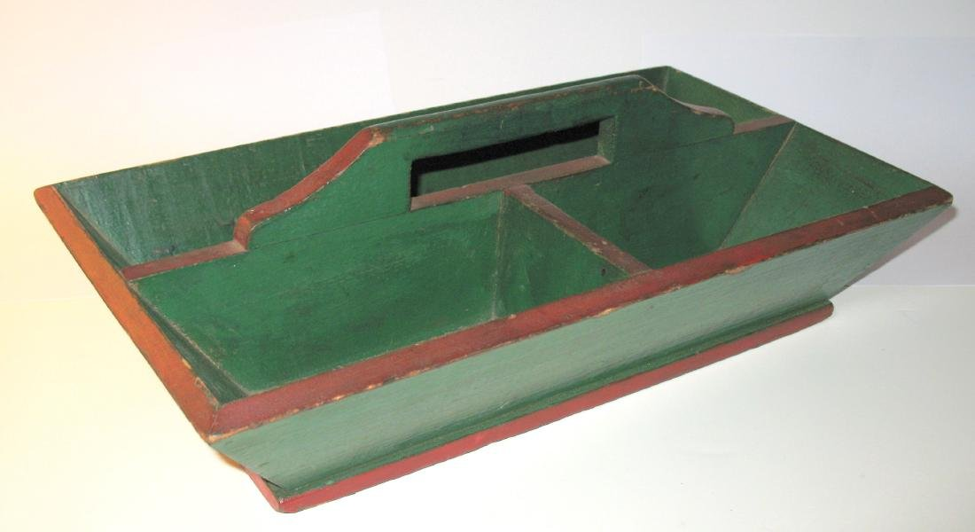 Red & Green Painted Knife Box - 2