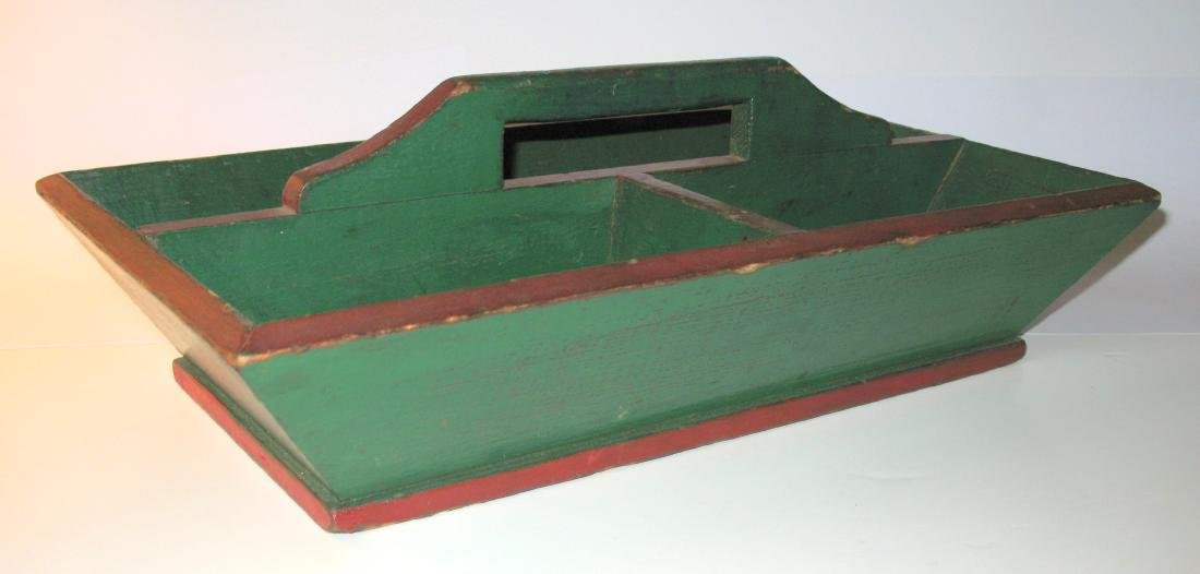 Red & Green Painted Knife Box - 3