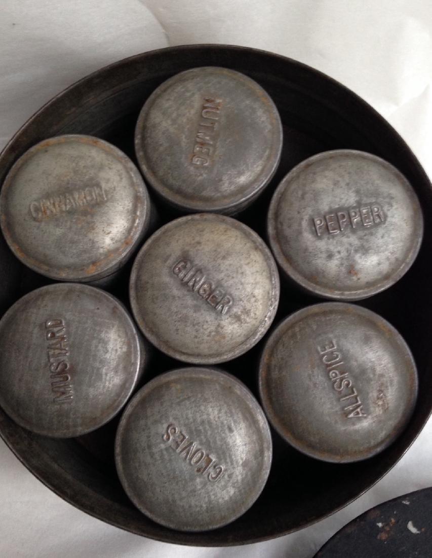 19th Century Tin Spice Set